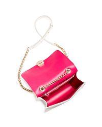 Ferragamo - Multicolor Vara Woven Rainbow Leather Shoulder Bag - Lyst
