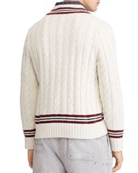Polo Ralph Lauren - Natural Striped Cricket Sweater for Men - Lyst