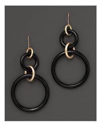 Faraone Mennella | Metallic 18k Yellow Gold And Onyx Earrings | Lyst