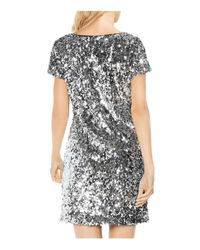 Vince Camuto - Multicolor Sequined Shift Dress - Lyst