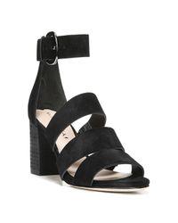 Via Spiga - Black Carys Strappy Block Heel Sandals - Lyst