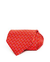 Ferragamo Red Good Gancini Classic Silk Tie for men