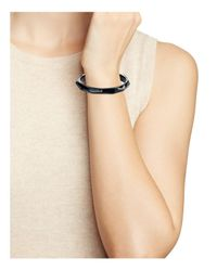 Alexis Bittar | Black Faceted Lucite Bangle | Lyst