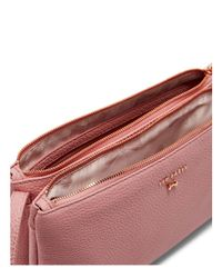 Ted Baker - Pink Suzette Leather Double Zipped Leather Crossbody - Lyst