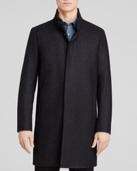 Theory | Blue Belvin Vp Voedar Coat for Men | Lyst