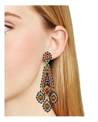 Miguel Ases - Multicolor Beaded Drop Earrings - Lyst