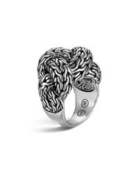 John Hardy | Metallic Classic Chain Silver Large Braided Ring | Lyst