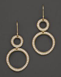Ippolita | Metallic 18k Gold Stardust Open Snowman Earrings With Diamonds | Lyst