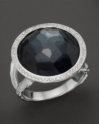 Ippolita - Multicolor Stella Lollipop Ring In Hematite Doublet With Diamonds In Sterling Silver - Lyst
