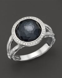 Ippolita | Multicolor Stella Ring In Hematite Doublet With Diamonds In Sterling Silver | Lyst