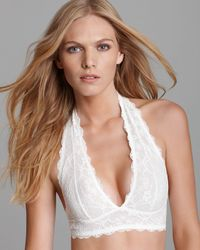 Free People | White Galloon Lace Halter Bra #f763o915 | Lyst