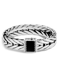 John Hardy - Metallic Sterling Silver Modern Chain Extra Large Bracelet With Black Onyx for Men - Lyst