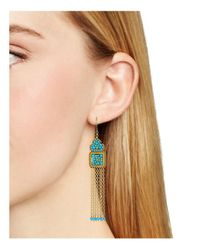 Miguel Ases - Multicolor Fringe Chandelier Earrings - Lyst