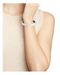 Alexis Bittar - Metallic Skinny Faceted Lucite Bangle Bracelet - Lyst