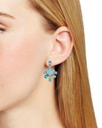 Carolee - Blue Double Drop Earrings - Lyst