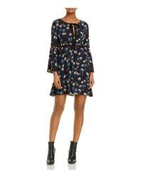 Ella Moss - Black Adara Cutout Bell Sleeve Dress - Lyst