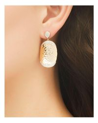 John Hardy - Metallic Palu 18k Gold Diamond Pavé Large Oval Drop Earrings - Lyst