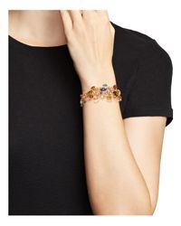Marco Bicego - Multicolor 18k Yellow Gold Paradise Five Strand Mixed Stone Bracelet - Lyst