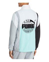 PUMA - Blue Color-block Windbreaker Anorak Jacket for Men - Lyst