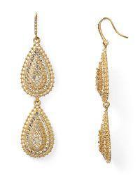 ABS By Allen Schwartz | Metallic Double Drop Earrings | Lyst