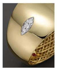 Roberto Coin - Metallic 18k Yellow And White Gold Diamond Golden Gate Ring - Lyst