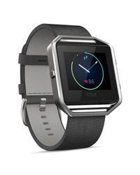 Fitbit - Gray Blaze Leather Accessory Band for Men - Lyst