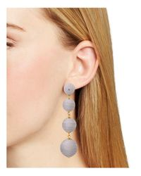 Aqua - Metallic Margot Ball Drop Earrings - Lyst