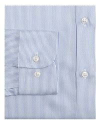 Armani - Blue Vertical Stripe Classic Fit Dress Shirt for Men - Lyst