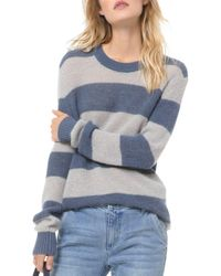 MICHAEL Michael Kors Blue Striped Rugby - Inspired Sweater