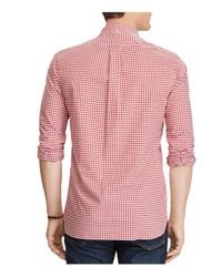 Polo Ralph Lauren - Red Plaid Cotton Clasic Fit Button-down Shirt for Men - Lyst