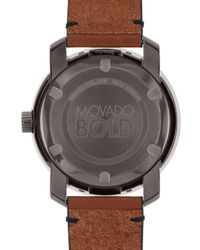 Movado - Brown Bold Large Watch for Men - Lyst