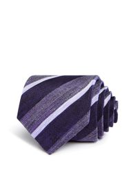 John Varvatos - Purple Heathered Stripe Classic Tie for Men - Lyst