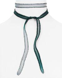 Chan Luu - Multicolor Dip Dyed Beaded Edge Necktie - Lyst