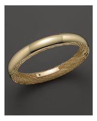 Roberto Coin | Metallic 18k Yellow Gold Golden Gate Bangle | Lyst