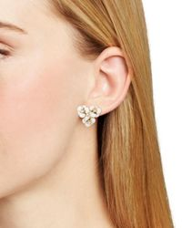 Kate Spade - White Flower Cluster Stud Earrings - Lyst