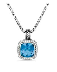 David Yurman | Metallic Albion Pendant With Blue Topaz & Diamonds | Lyst