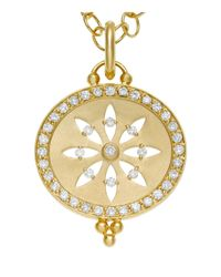 Temple St. Clair - Metallic 18k Yellow Gold Pavé Halo Cut Out Sorcerer Pendant With Diamonds - Lyst