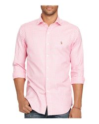 Polo Ralph Lauren - Pink Gingham Oxford Estate Classic Fit Button-down Shirt for Men - Lyst