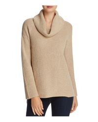 Calvin Klein - Natural Cowl Neck Chunky-knit Sweater - Lyst