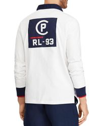 Polo Ralph Lauren White Cp-93 Classic Fit Rugby Shirt for men