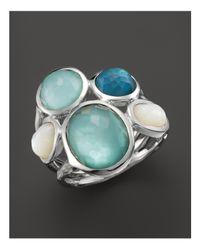 Ippolita - Metallic Sterling Silver Wonderland 5-stone Ring In Tahiti - Lyst