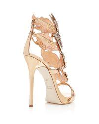 Giuseppe Zanotti - Metallic Coline Crystal-Embellished Wing Sandals - Lyst