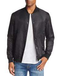 Reigning Champ - Black Logo Stadium Bomber Jacket for Men - Lyst