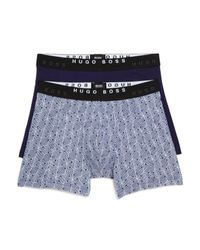 HUGO - Blue Boss Boxer Briefs, Pack Of 2 for Men - Lyst