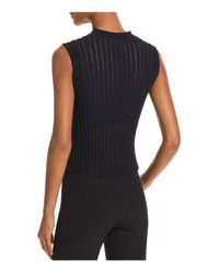 Theory - Black Sleeveless Knit Top - Lyst