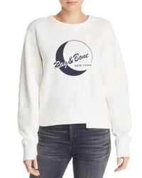 Rag & Bone - White 1984 Reconstructed Sweatshirt - Lyst