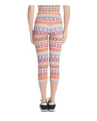 Karen Kane - Multicolor Printed Cropped Leggings - Lyst
