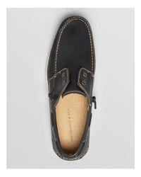 John Varvatos - Black Schooner Laceless Boat Shoes for Men - Lyst
