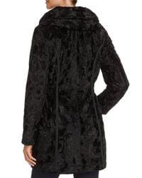 Laundry by Shelli Segal - Black Reversible Faux Shearling & Puffer Coat - Lyst