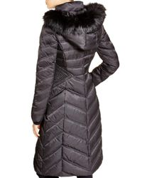 Laundry by Shelli Segal - Black Long Maxi Puffer Coat - Lyst